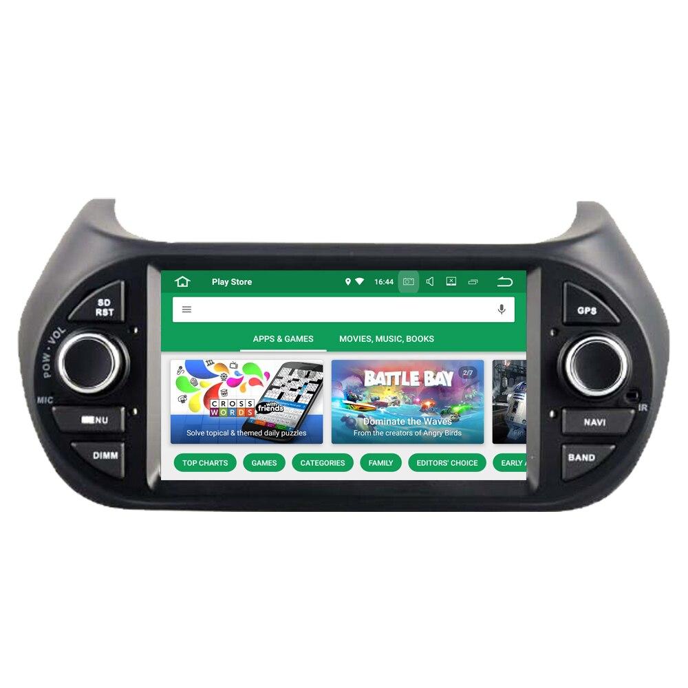 Discount RoverOne Car Multimedia Player For Fiat Fiorino Qubo For Citroen Nemo For Peugeot Bipper Android 9.0 Octa Core Radio Navigation 4