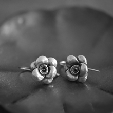 Silver 925 Jewelry Festival Commemoration Popular Engagement Wedding Pure Small Flower Woman Ear Drop Rose