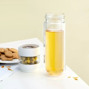 Image 3 - Youpin ทั้งหมดคู่ชั้นแยกถ้วยชาสีขาวดื่มน้ำครอบครัว Tritan วัสดุสำหรับสำนักงานสีชมพู