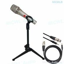 Pro KMS105 Condenser Live Microphone Metal 48V Phantom Power KMS 105 Voice Karaoke Internet Live Mics with Desktop Support