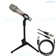 Pro KMS105 kondenser canlı mikrofon Metal 48V fantom güç KMS 105 ses Karaoke Internet canlı Mics masaüstü desteği