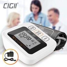 Cigii przenośny cyfrowy ciśnienie krwi w ramieniu Monitor bicie serca test opieki zdrowotnej monitora 2 mankiet tonometr