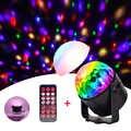 LED Light การควบคุมระยะไกลหมุน DJ DISCO Ball Strobe ไฟ 3W RGB LED เลเซอร์โปรเจคเตอร์โคมไฟผลสำหรับคริสต์มาส