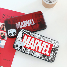 Marvel case for iphone 11 pro x xs max xr 8 7 6 6s plus SE 2 silicone phone cover 3D relief Comic cartoon coque fundas capa