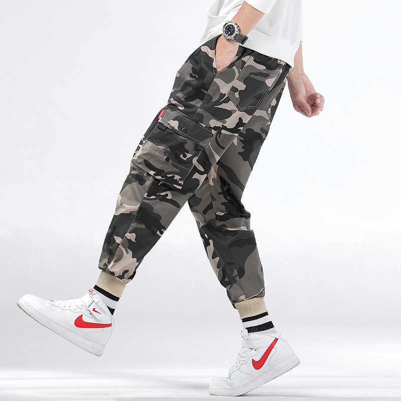 Pantalones de Joggers para hombre de la marca CHAIFENKO, pantalones Cargo de camuflaje para hombre, pantalones de Skateboard Hip Hop, Jogger, pantalones de pie de viga informales a la moda, M-8XL para hombre