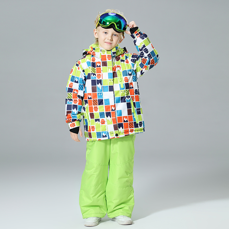 2019 New Boys Ski Suits Waterproof Warm Winter Snowboard Jacket Skiing And Snowboarding Suit Snow Jacket For Children Brands