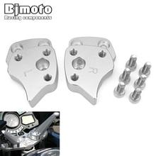 BJMOTO Motorcycle CNC Modified Hand Bar Mount Clamp Adapter For Yamaha FJR 1300 2001-2005 Handlebar Risers FJR1300