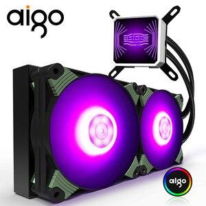 Aigo ICY Water Cooler T120/240 PC RGB 120MM Fan CPU Fan Radiator For LGA 115x/AM3+/AM4 120mm Computer Fan Water Cooling Cooler