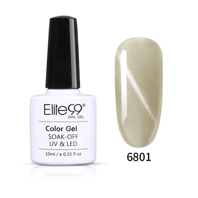 Elite99 10ml Gletscher Grau Nagel Gel Polnisch 3D Katze Auge Wirkung UV Gel Nagellack Tränken weg Maniküre Lack magnetische Gel Lacke