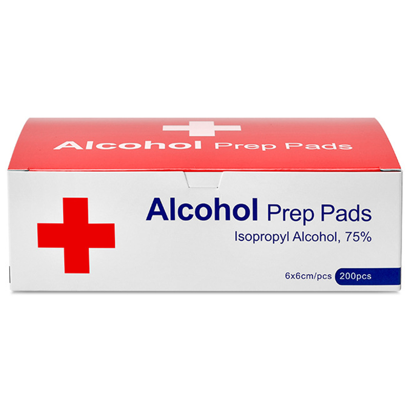200 Pcs Alcohol Wet Wipe Disinfection Prep Swap Pad Antiseptic Skin Cleaning Care Jewelry Mobile Phone Clean Wipe 6X6cm