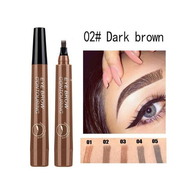 4 Tip Microblading Tattoo Eyebrow Pencil Brow Tattoo Pen Paint Makeup Eyebrows Waterproof Cosmetic Eye Brow Liner 5 Colors 5