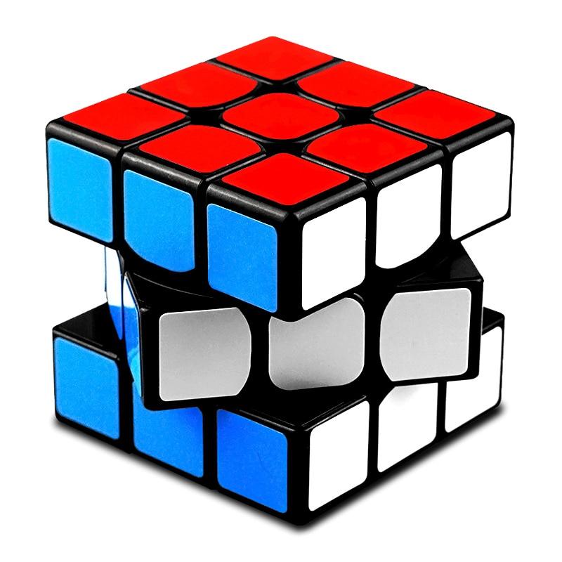 Cubo mágico profissional 3x3x3 qiyi, quebra-cabeça neo cubo mágico com adesivo 3x3 brinquedos educativos para adultos, presente para crianças