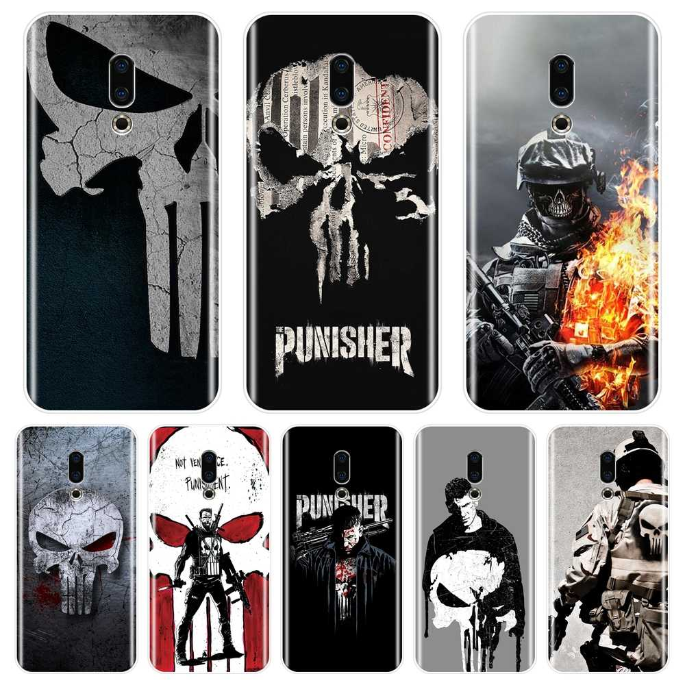 Case Voor Meizu Pro 6 7 Plus U10 U20 Marvel De Punisher Soft Silicone Cover Voor Meizu 16th 16x15 Lite 16 Plus Telefoon Case