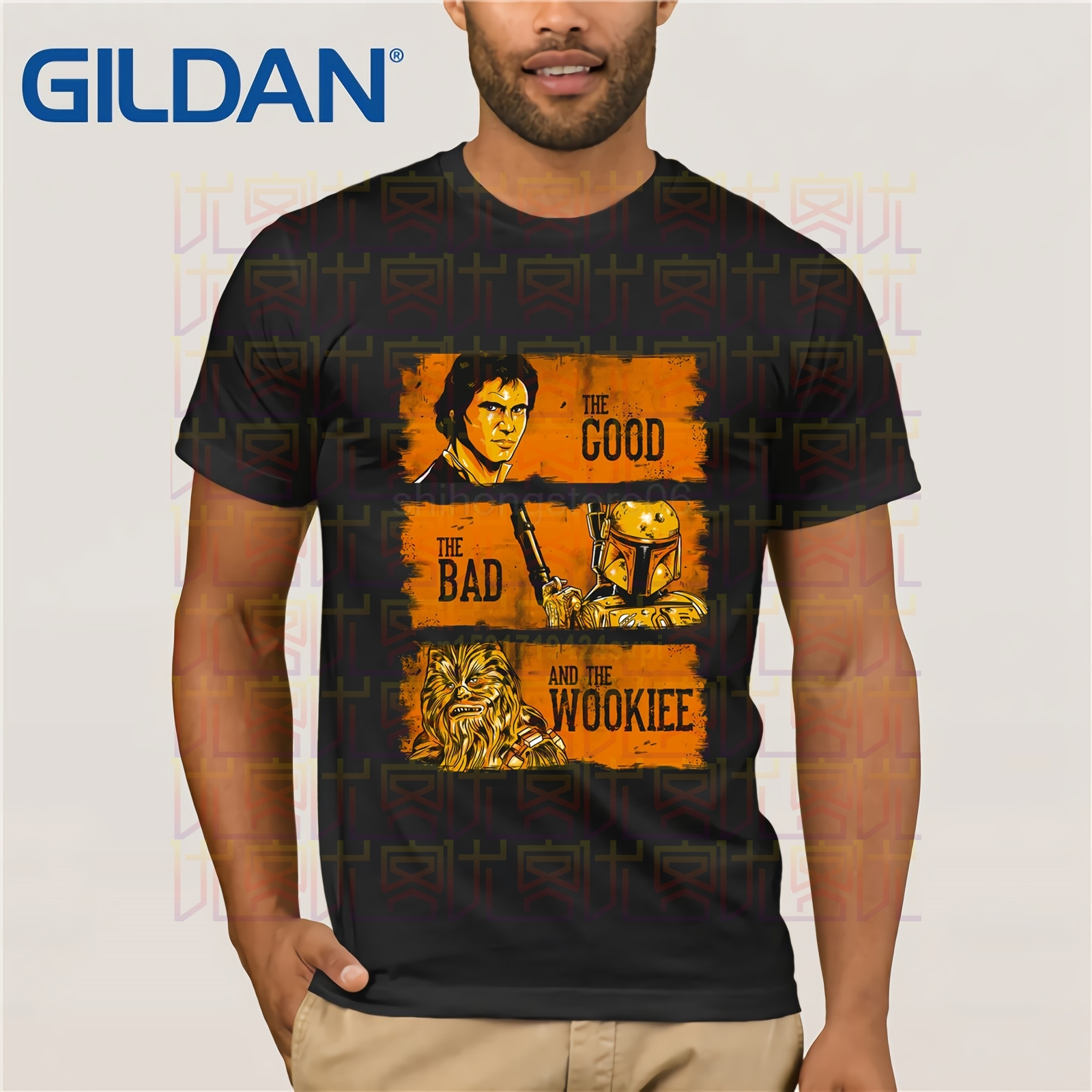 Star Wars T Shirt The Good The Bad And The Ugly Wookiee Han Solo Boba Fett Jedi Fashion  Cotton T-shirt Cartoon