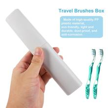 2Pcs Portable Travel Toothbrush Case Container Toothbrush Holder Brushes Box