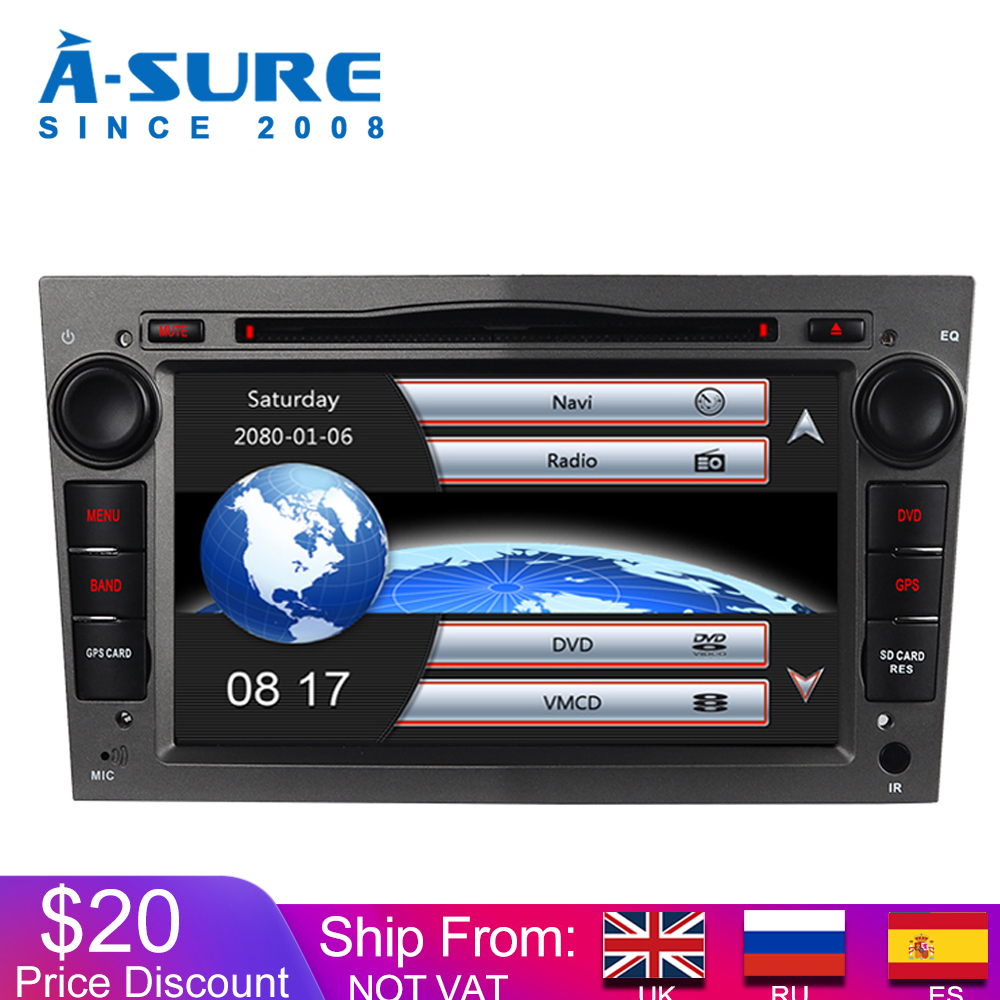 A-Sure Car Multimedia 2 Din <font><b>7</b></font> Inch Radio GPS DVD Player Navigation For Vauxhall OPEL Antara Vectra Zafira Astra SWC DAB+ BT RDS image