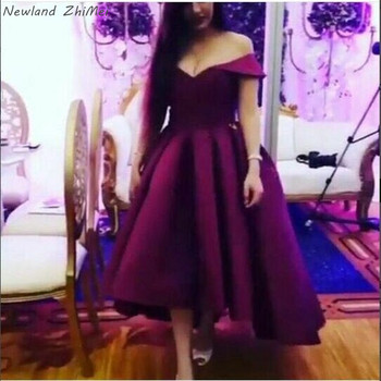 Sexy Off the Shoulder Prom Dresses Charming Woman A Line Satin Evening Formal Dress Gowns Hot Sale