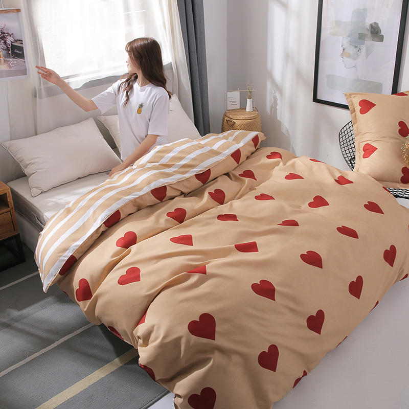 Classic Stripe Desgin Blue Printed Simple Duvet Cover Quilt Covers Bedding Sets Single Queen Double Size Bed Linens Home Textile