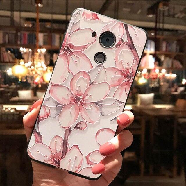 3D Emboss TPU Case For Huawei P Smart 2020 2019 P40 P30 P20 Honor X10 9A 9S 8X 9X 10i 20 10 9 Lite Pro Y6 Y7 Y9 Flower Cover Bag 1