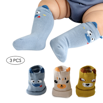 3Pair Kids baby Socks Lovely Cartoon Fox Knee Girl Boy Baby Toddler Socks animal infant Soft Cotton socks Spring and Autumn cartoon animal baby knee high socks for girls infant fox socks toddler baby girl knee socks lovely totoro cat knee sock s m l