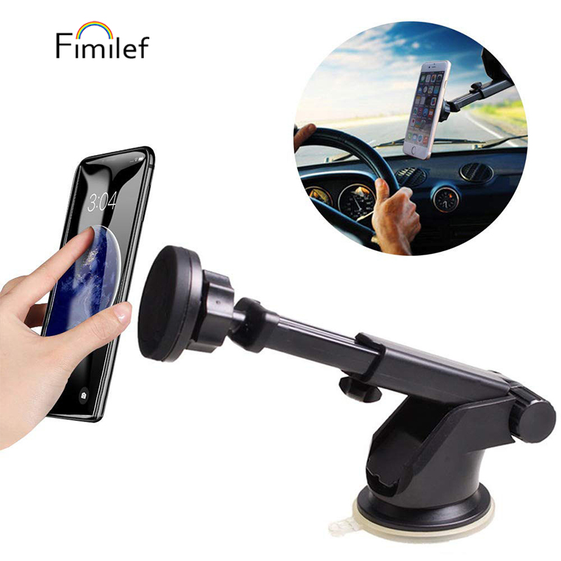 Universal Magnetic Dashboard Windshield Industrial Strength Suction Cup Car Phone Mount Holder For iPhone7 HuaWei P20 GPS Holder|Phone Holders & Stands| |  - title=