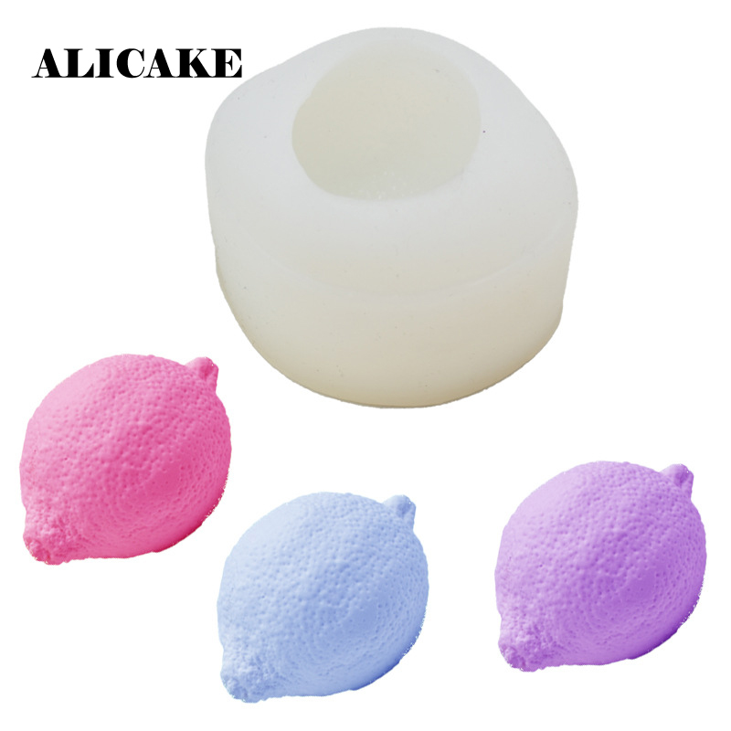 Lemon Shape Silicone Cake Fondant Baking Mold Chocolate Candy Form Molds Bakery Mould Cake Decoration Tools