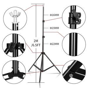 Image 5 - Photo Background Backdrop Support System Kit with Clamp,Carry Bag For Photo Studio Youtube  Photography Backdrops