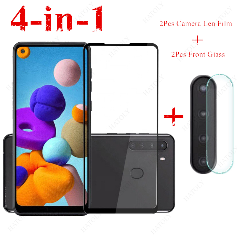 2PCS For Samsung Galaxy A21 Glass For Samsung Galaxy A31 A41 A51 A71 A11 A01 M11 M21 M31 A50 A30 Tempered Glass Screen Protector