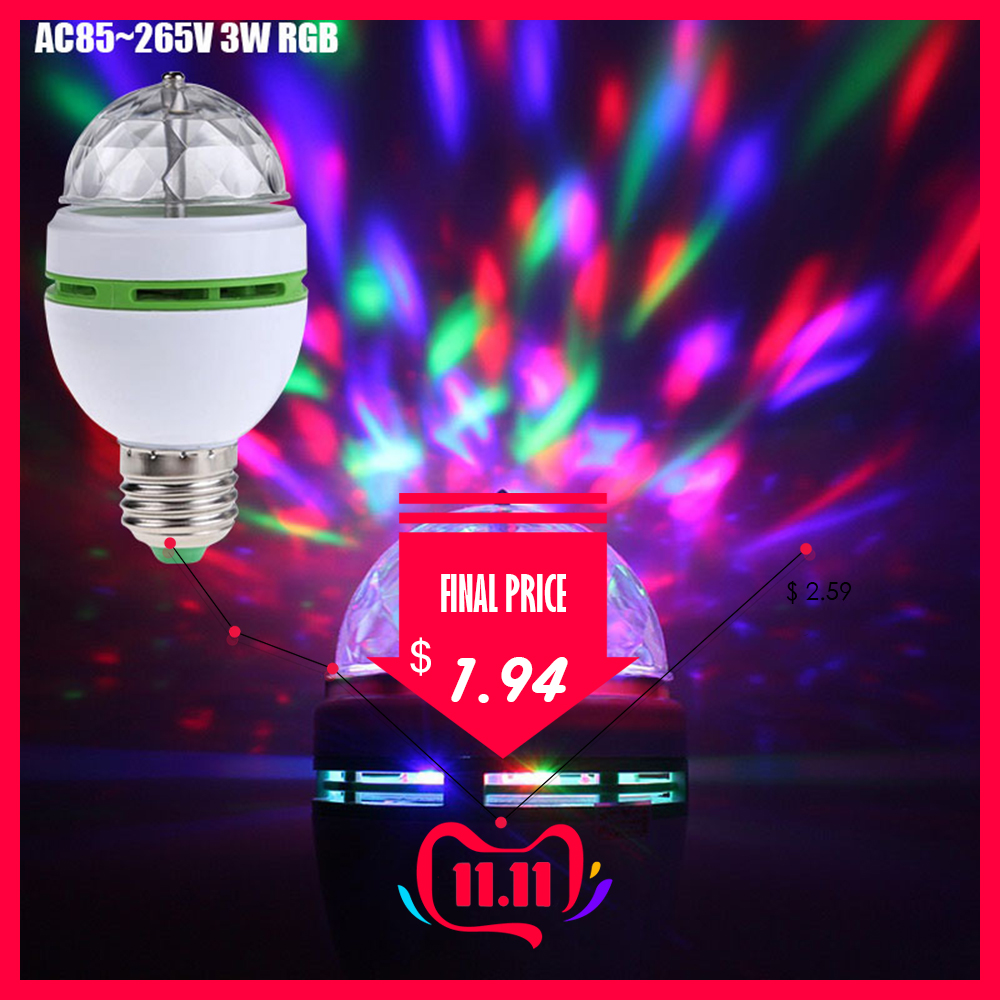Led Disco Light Stage Lights DJ Disco Ball Party Lights 3W RGB LED Stage Light For Christmas Home KTV Christmas Wedding Show D30