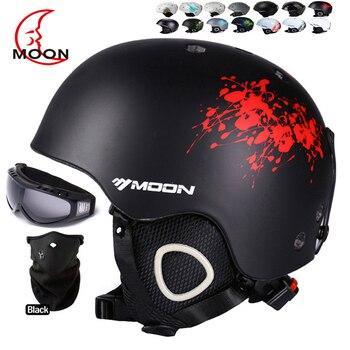MOON лыжный шлем Осень Зима для взрослых и детей Сноуборд Скейтборд лыжное оборудование снежные виды спорта безопасные лыжные шлемы