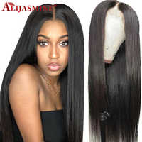 Long Straight Lace Front Human Hair Wigs For Women Pre Plucked With Baby Hair Brazilian Remy Hair Lace Front Wig Bleached Knots