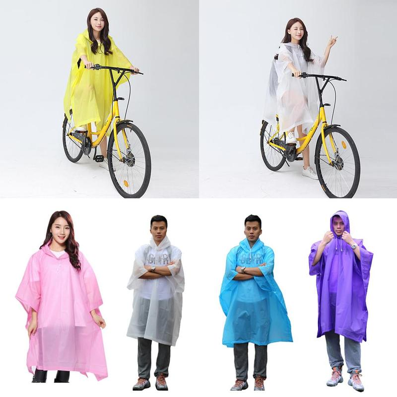 Cycling Raincoat Rain Cape Poncho Hooded For Outdoor Camping Bicycle Bike Windproof Rain Coat Mobility Scooter Cover