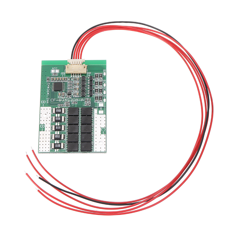 MAYITR 4S 30A 12V BMS PCB Protection Board Balance Integrated Circuits For LiFePo4 LiFe 18650 Battery Cell
