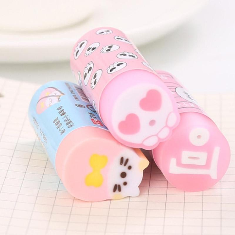 1PC Cute Erasers Cartoon Rubbers Pencil Erasers For Kids Girls Gift Back To School Supplies Novelty Kawaii Stationery