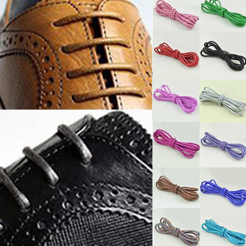 1 זוג שעווה מרטין מגפי שרוך רעיוני שרוכי עגול נעל שרוכי זהב משי פרל אור ניאון Sneaker שרוכי