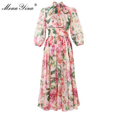MoaaYina Fashion Designer dress Spring Summer Women Dress Bo