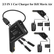 Автомобильное зарядное устройство для автомобиля, для наружного использования, быстрая зарядка аккумулятора, пульт дистанционного управления, концентратор питания, USB порты для DJI Mavic Air Аксессуары