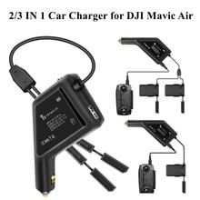 Chargeur de voiture véhicule extérieur rapide Multi charge batterie télécommande chargeur de puissance Hub Ports USB pour DJI Mavic Air accessoires