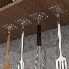 Sucker Hooks Cup Suction Wall-Hangers Self-Adhesive Door Bathroom Transparent Kitchen