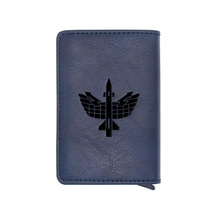 Classic Russian Air Defense Force Design Rfid Card Holder Wallets Classic Men Women Credit Card Leather Purse