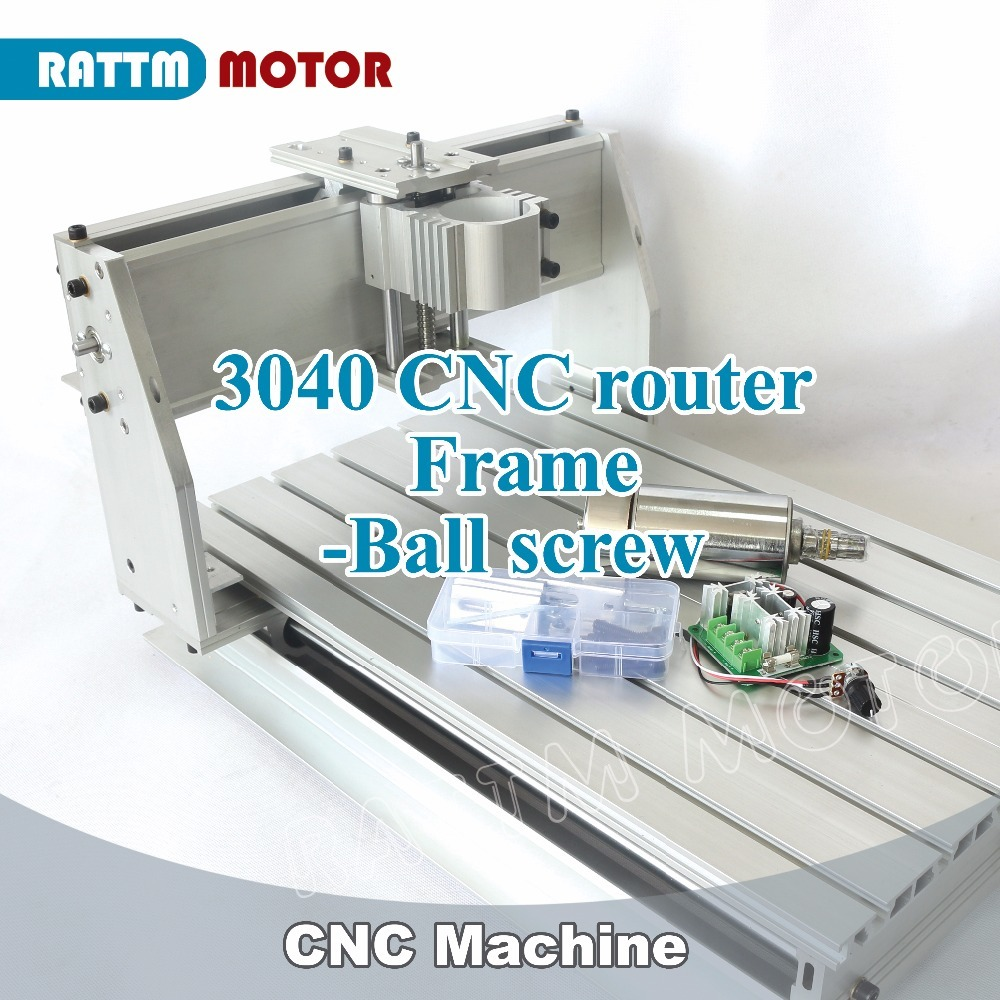 <font><b>2019</b></font> Sale Wood Lathe <font><b>Cnc</b></font> Router Machine New 3040 <font><b>CNC</b></font> Router Milling Machine Mechanical Kit Ball Screw with 300w for Dc Spindle image