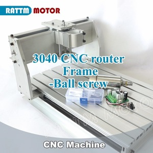Image 1 - 2020 Sale Wood Lathe Cnc Router Machine New 3040 CNC Router Milling Machine Mechanical Kit Ball Screw with 300w for Dc Spindle