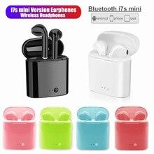 I7sมินิหูฟังไร้สายBluetoothหูฟังมินิหูฟังสมาร์ทหูฟังหูฟังสำหรับIphone Xiaomi Samsung Huawei
