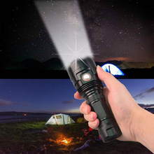 TopCom Power Light 10W Tactical Flashlight Portable Rechargeable LED Light 6-Mode 3 LED EDC Flashlight Torch For Camping Hunting(China)