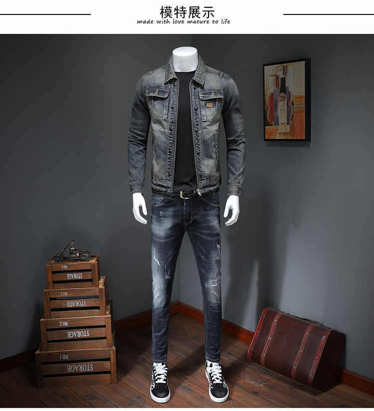 Casual Mens Denim Jacket men Plus Size 4XL Bomber Jacket Men High Quality Cowboy Men's Spring Jean Jacket Chaqueta Hombre