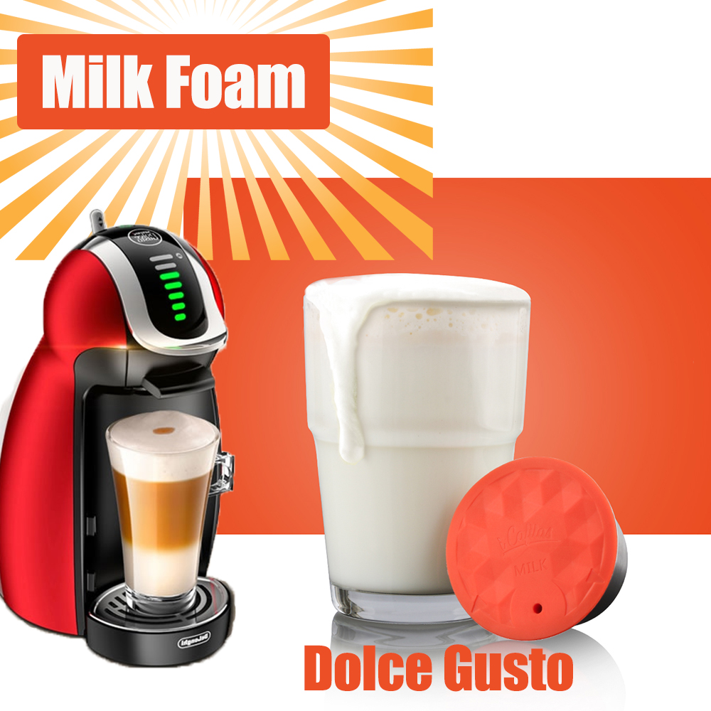 I Cafilas Milk Foam Filters For Nescafe Dolce Gusto Reusable Dolci Gusto Coffee Capsule Stainless Steel Refillable Pod Cup Spoon