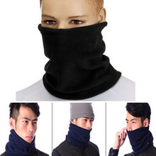Black 4 in 1 Winter Unisex Women Men Warm Thermal Scarf Snood Neck Warmer Face Mask Beanie Hats Wear Collar(China)