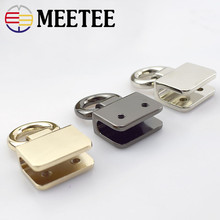 2/4/10pcs Meetee Metal O D Rings Side Clip Buckle DIY Shoes Garment Belts Handbag Hanging Hook Strap Chain Hardware Accessory