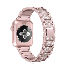 Stainless Steel strap for Apple Watch band 44 mm 40mm iWatch band 42mm/38mm Diamond Strap For Apple watch watchband