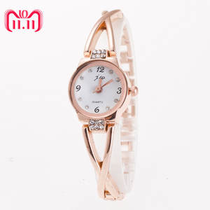 Bracelet Watch Rhinestone Stainless-Steel Golden-Sliver Minimalism Ladies Gift Fashion Women